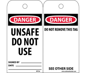 Danger Unsafe Do Not Use Tag Poly