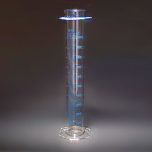 Graduated Cylinders, Double Scale, Class A, Individually Certified, 2000mL, Each