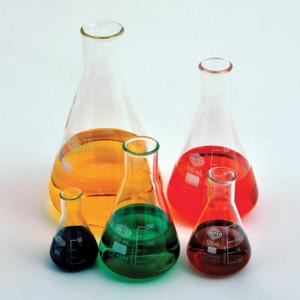 Erlenmeyer Flask, Narrow Mouth, Borosilicate Glass, 2000mL, case/8