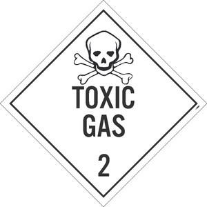 """Toxic Gas 2 Dot Placard Sign Card Stock, 10.75"""" X 10.75"""""""