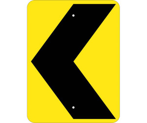 "Chevron Traffic Arrow Sign Heavy Duty High Intensity Reflective Aluminum, 24"" X 18"""