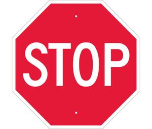 """Stop Sign Heavy Duty Reflective Aluminum, 24"""" X 24"""""""