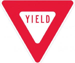 "Yield Sign Heavy Duty High Intensity Reflective Aluminum, 30"" X 30"""