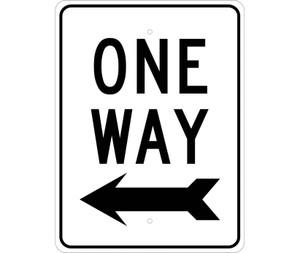 "One Way Sign Heavy Duty High Intensity Reflective Aluminum, 24"" X 18"""