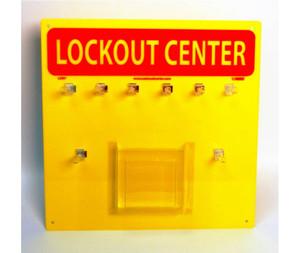Lockout Backboard Yellow, Backboard With Hooks, 14x14