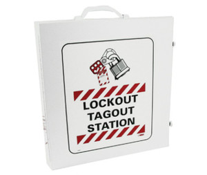 Lockout Tagout Station - Cabinet Only White