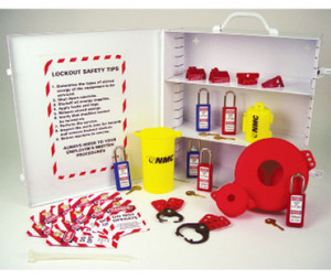 Lockout Tagout Station - Cabinet Only Equipped, White