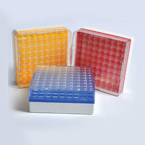 Cryo Vial Rack/Freezer Box for 2mL Vials, Autoclavable Polycarbonate, pack/4