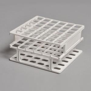 Test Tube Rack, 1-Piece, PP, 13mm x 36 Tubes, pack/4