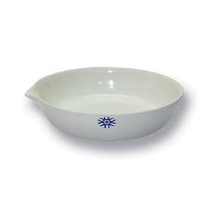 Porcelain Evaporating Dish, Flat Form, 200mL, pack/6