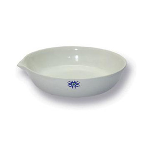 Porcelain Evaporating Dish, Flat Form, 300mL, pack/6