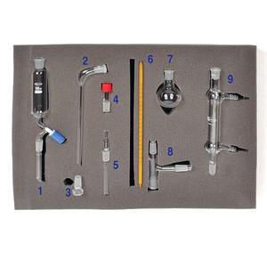 Standard Organic Chemistry Glassware Kit, up to 30g, 9-Piece Kit
