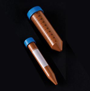 Centrifuge Tubes, 15mL (1/2 oz), Sterile, Amber, case/500