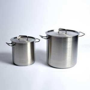 Utility Tank with Lid (Stock Pot), Stainless Steel, 40 gallon/ 169 Liter