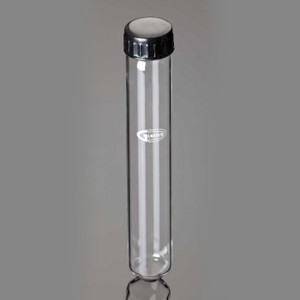 Culture Tubes with Caps, Round Bottom, 60mL, case/100