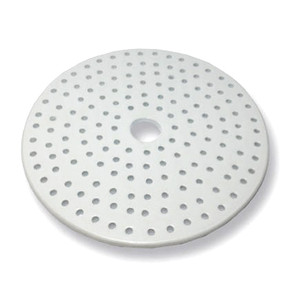 Porcelain Desiccator Plate, Small Holes, 190mm Diameter
