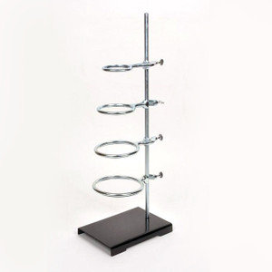 """Support Stand/Ring Set, 4"""" x 6"""" Base, 18"""" Rod with 2 Rings (3"""" & 4""""), Each"""