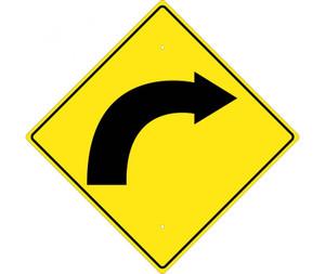 "Right Arrow Traffic Sign Heavy Duty High Intensity Reflective Aluminum, 24"" X 24"""