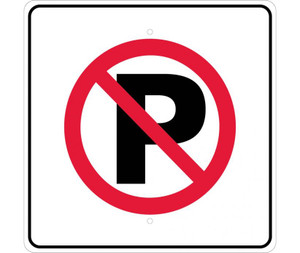 "No Parking Graphic Traffic Sign Heavy Duty Reflective Aluminum, 24"" X 24"""
