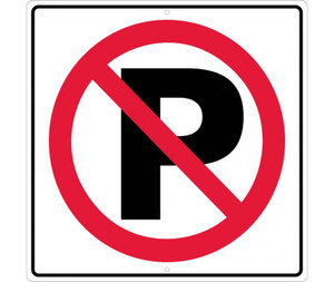 "No Parking Graphic Traffic Sign Heavy Duty High Intensity Reflective Aluminum, 24"" X 24"""