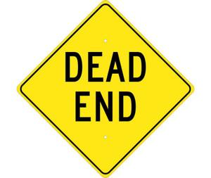 "Dead End Sign Heavy Duty High Intensity Reflective Aluminum, 24"" X 24"""