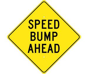 "Speed Bump Ahead Sign Heavy Duty High Intensity Reflective Aluminum, 24"" X 24"""