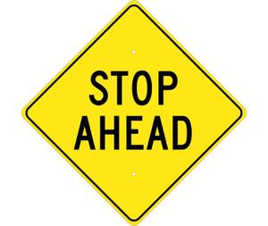 "Stop Ahead Sign Heavy Duty High Intensity Reflective Aluminum, 24"" X 24"""