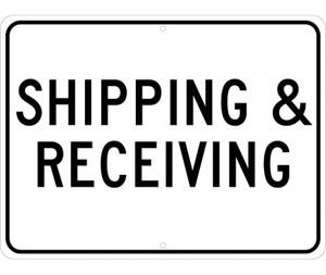"Shipping & Receiving Sign Heavy Duty Reflective Aluminum, 18"" X 24"""