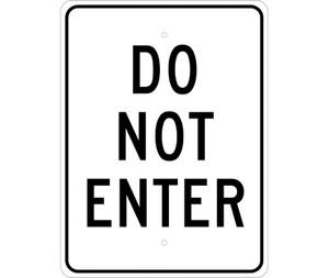 "Do Not Enter Sign Heavy Duty Reflective Aluminum, 24"" X 18"""