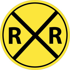 "Railroad Crossing Sign Heavy Duty High Intensity Reflective Aluminum, 30"" X 30"""