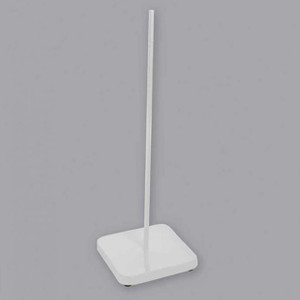 """Support Stands with Rod and Base, Porcelain, 7"""" x 13"""""""