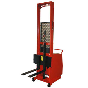 "Wesco 261038-PD 64"" Lift Height Counter-Balance Powered Stacker"