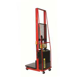 "Wesco 261023 24"" x 24"" Platform Fixed Base Powered Stacker"