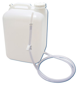 5 gallon (19L) HDPE, Square Carboy with Tubing & Clamp