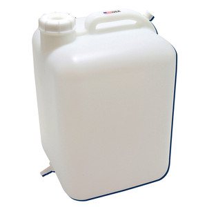 5 gallon (20L) HDPE, Hedwin Style Square Lab Carboy, Tubulation