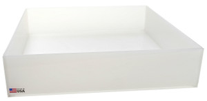 Rectangular Lab Tray, 21 Liter, Autoclavable PP, 18 x 18 x 4""
