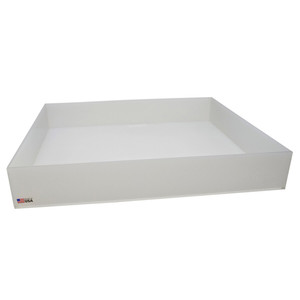 Rectangular Lab Tray, 37 Liter, Autoclavable PP, 22 x 26 x 4""