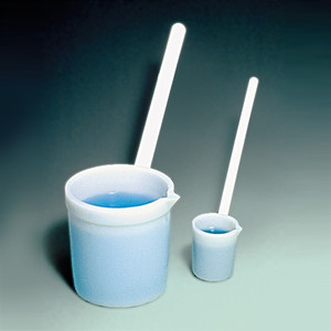 Ladle Dipper with Spout, HDPE, 100mL, case/12