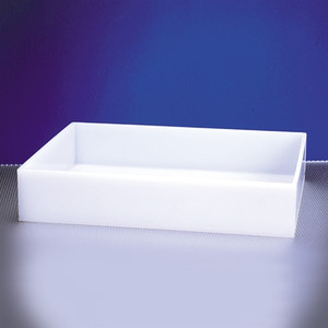 "Rectangular Lab Tray, 37 Liter, HDPE, 22"" x 26"" x 4"""