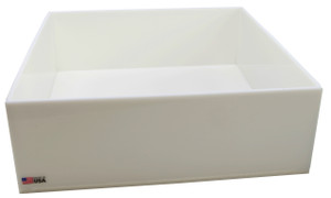 "Rectangular Lab Tray, 32 Liter, HDPE, 18"" x 18"" x 6"""