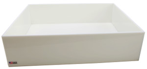 "Rectangular Lab Tray, 42 Liter, HDPE, 18"" x 24"" x 6"""
