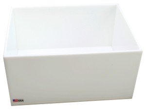 "Rectangular Lab Tray, 25 Liter, HDPE, 12"" x 16"" x 8"""