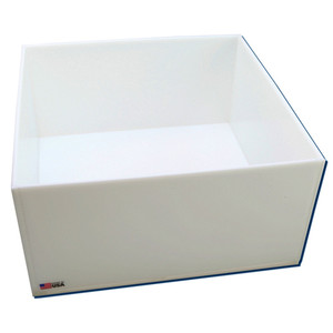 "Rectangular Lab Tray, 33 Liter, HDPE, 16"" x 16"" x 8"""