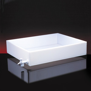 Dispensing Lab Tray with Spigot, HDPE, 9 Liter, 12 x 16 x 3""