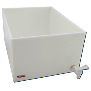 Dispensing Lab Tray with Spigot, HDPE, 25 Liter, 12 x 16 x 8""