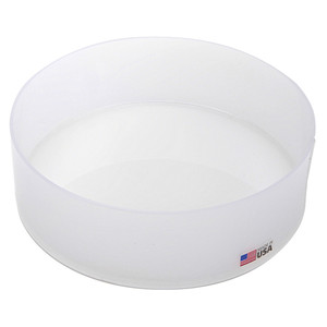 "Round Lab Tray, HDPE, 12 x 3"", 5.5 Liters"