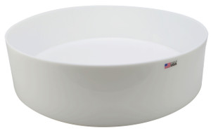 "Round Lab Tray, HDPE, 24 x 6"", 44.4 Liters"