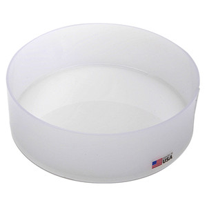 "Round Lab Tray, Polypropylene, 10 x 3"", 3.9 Liter"