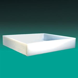 "Rectangular Lab Tray, 46 Liter, HDPE, 23.25"" x 29.25"" x 3.75''"
