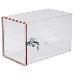 Large Desiccator Cabinet with Lock, 17 x 9.4 x 11""